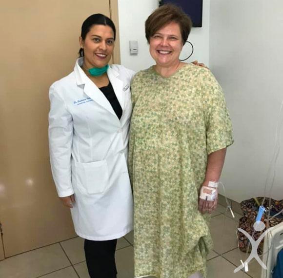 Dr. Louisiana Valenzuela with Patient Kristin