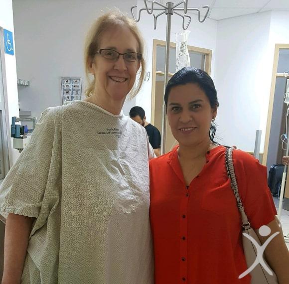 Dr. Louisiana Valenzuela with Patient Renee
