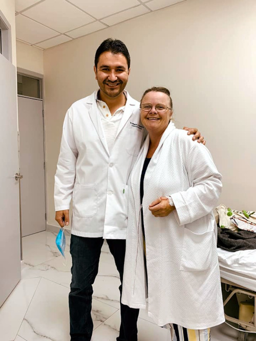 Dr. Montalvo with Female Bariatric Patient at Mexico Bariatric Center