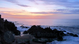 Sunrise at a beach near Cabo