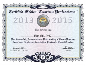 Medical Tourism Association Certificate